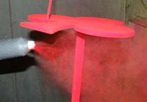 Videos de funcionamiento de las pinturas en polvo